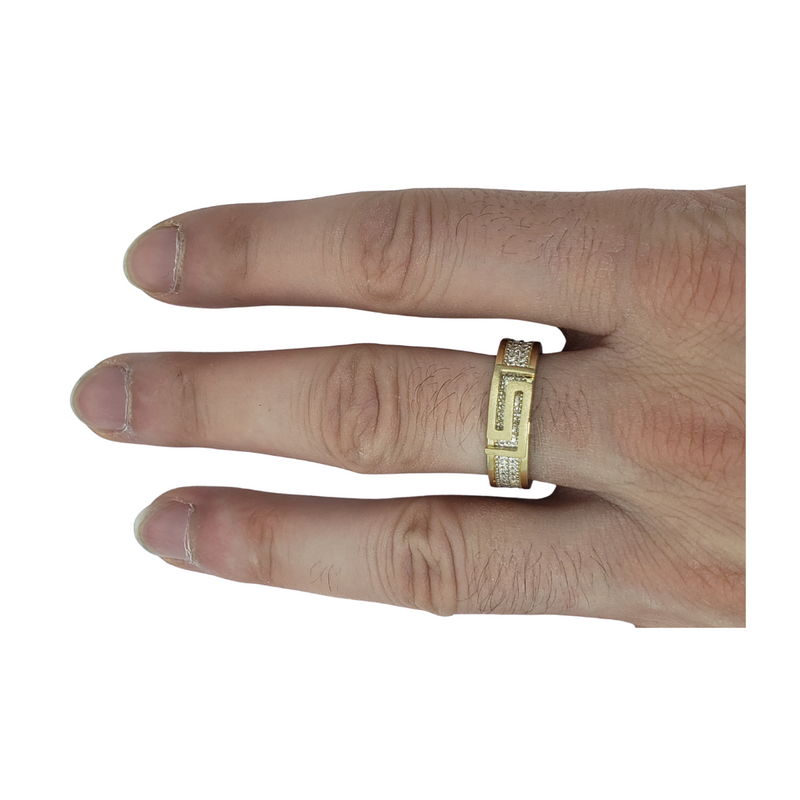 Aretino Gold Ring for Men MR-011