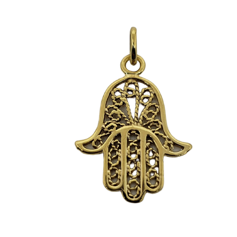 Khamsa Pendant 10k Yellow Gold MP-033