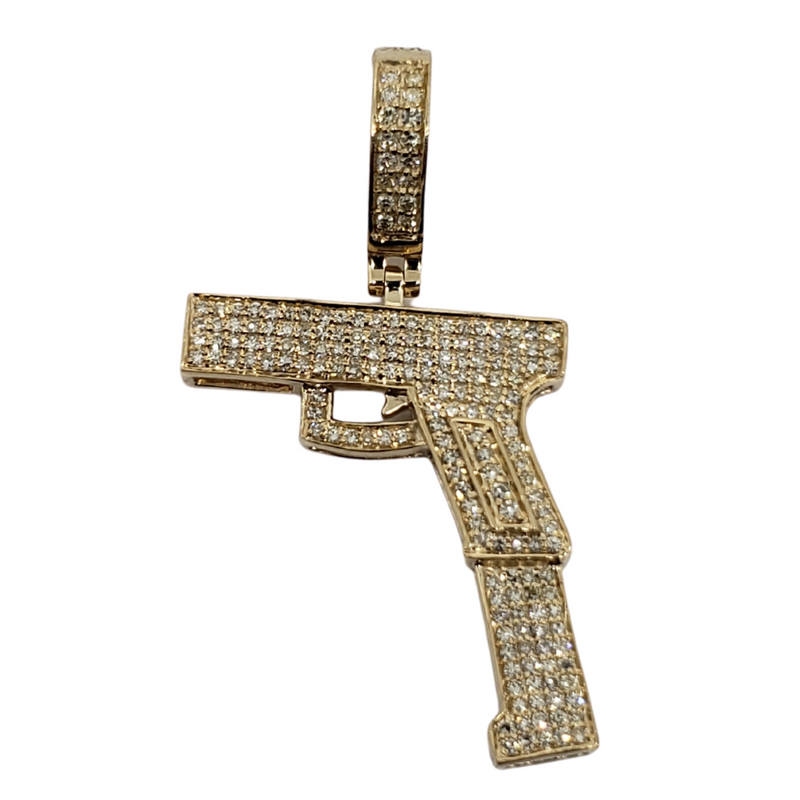 9mm-Extension 0.57ct Gold Pendant in 10k Gold SP 9904