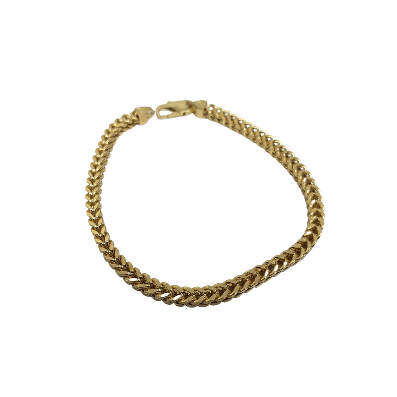 3.8MM 10k Yellow Gold Franco Bracelet FBG-005