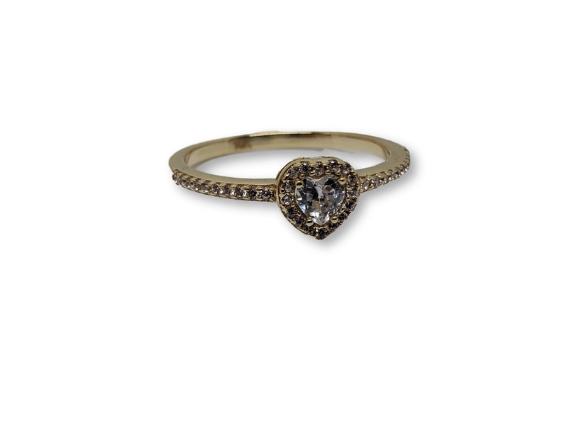 Gold Heart Ring for Women 10K WCR0023