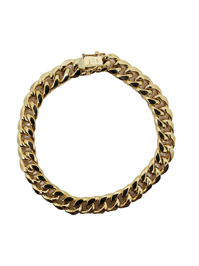 Cuban Bracelet 9.5mm 10k Gold MMB-015