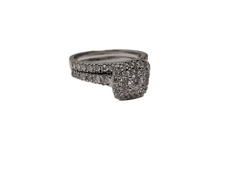 Bague Laura 1.00ct diamants en or blanc 10K
