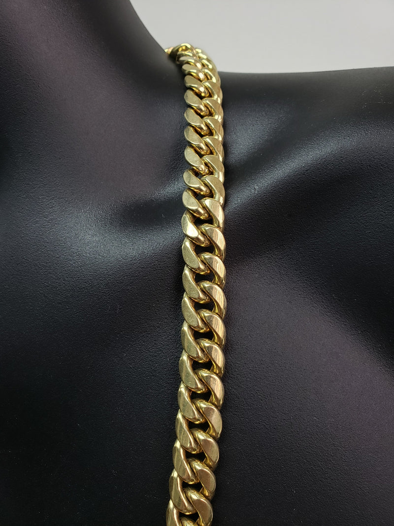 Chaine Miami Cuban Link 14mm JUMBO en or 10 karat Italien | Miami Cuban Link Chain for Men 14mm in Italian Yellow Gold 10kt MC14-Gold Custom