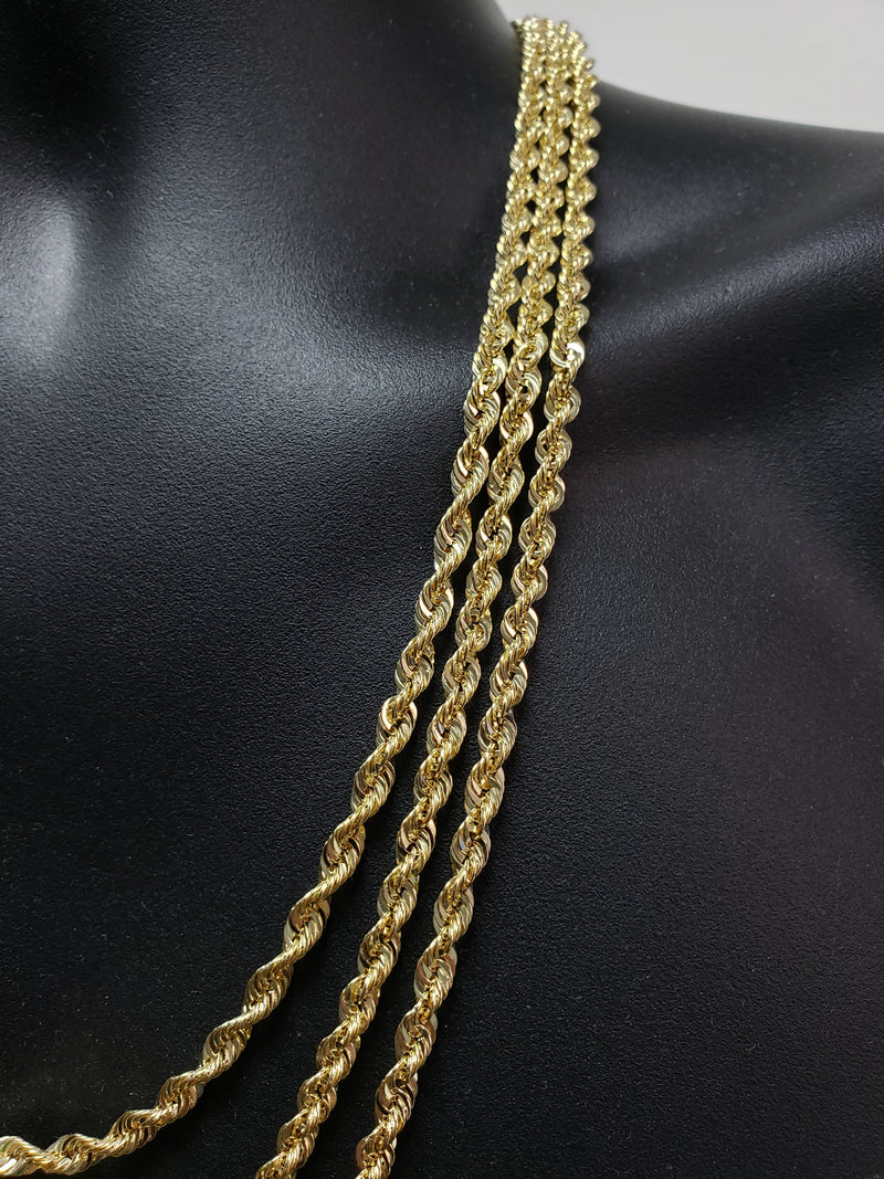10K Gold Rope Chain 4.5mm edition 2020 Laser Cut | Ropechain 4.5mm Special Edition Laser Cut-Gold Custom