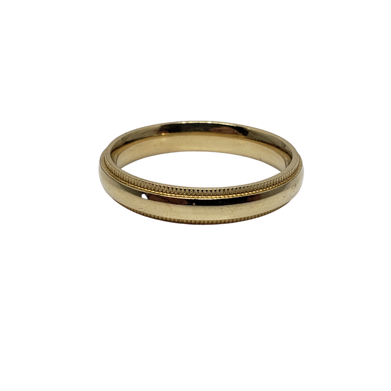 Wedding Band Ring in 10k Yellow Gold WGB-024