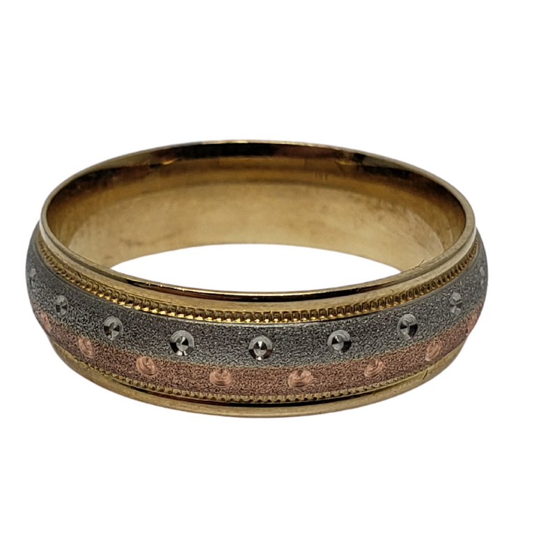 Wedding Band Ring in 10k Yellow Gold WGB-026