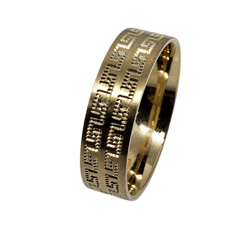 Wedding Band Ring in 10k Yellow Gold WGB-001
