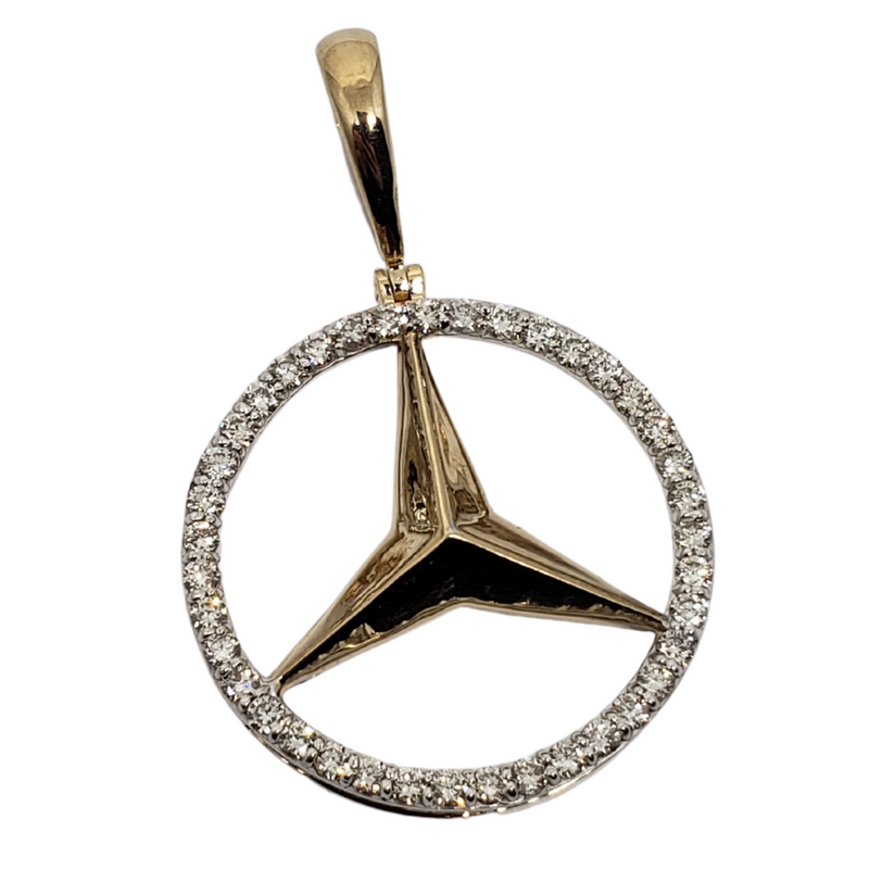 Mercedes 0.93ct Gold Pendant in 10k Gold SP 10766