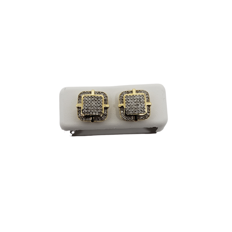 10K 0.40CT Diamond Stud Screw Back Earring DE-021