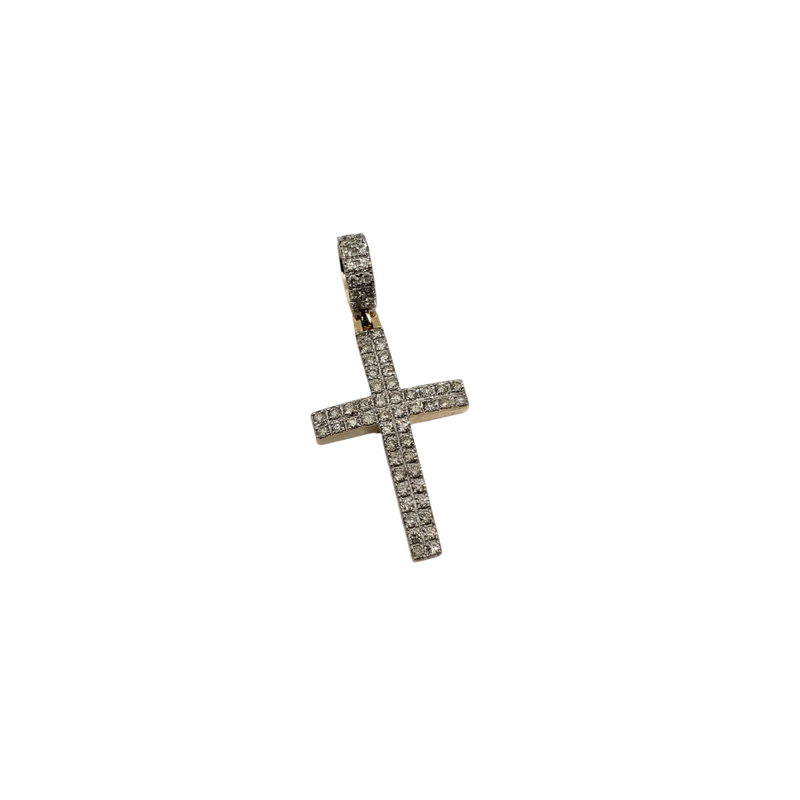 Luxury Cross 1.15CT Diamond Pendant in 10k Gold DP-005