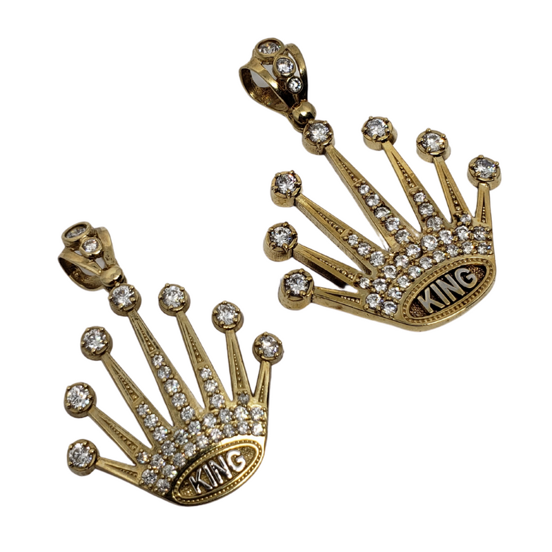 10K Yellow Gold Crown Pendants MP-007