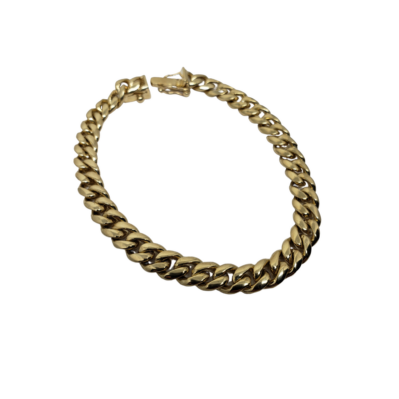 7.4mm Miami Cuban Link 10K Yellow Gold Bracelet BMC009