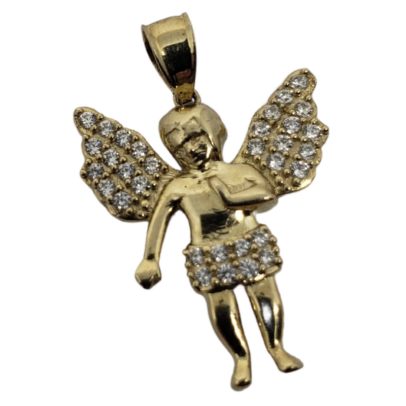10K Gold Angel Pendant AGP-010