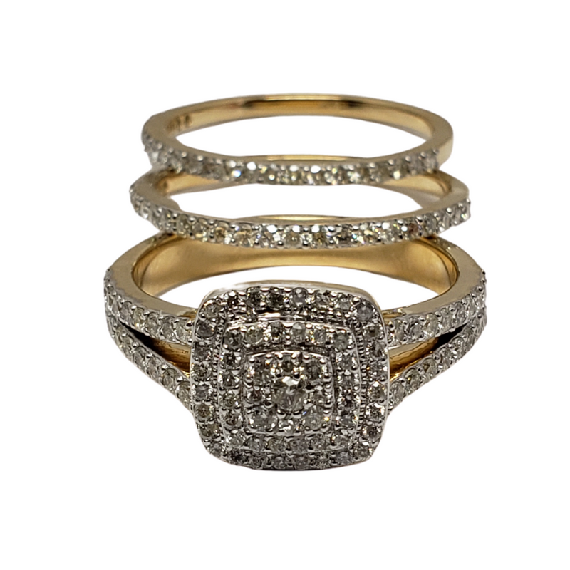 Diamond Ring 1.8ct in 14k Yellow Gold SMR-108