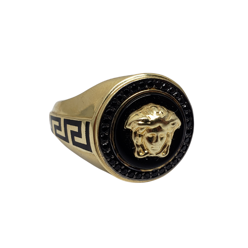 Longo Gold Ring 10k for Men MR-096