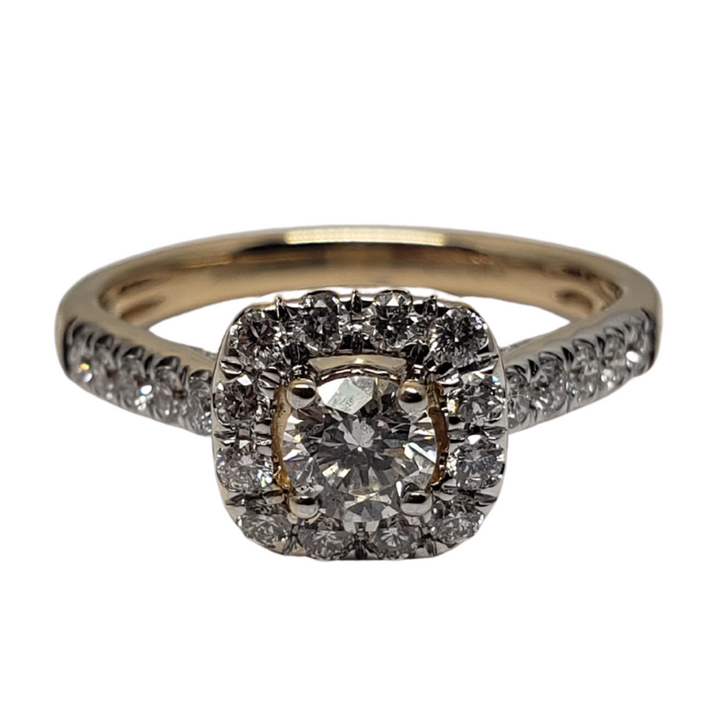 Diamond Ring 0.75ct in 14k Yellow Gold SKR15450-100E