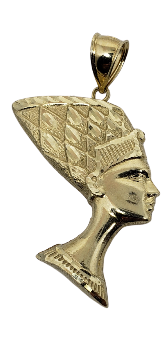 Nefertiti Pendant 10k Yellow Gold MP-019