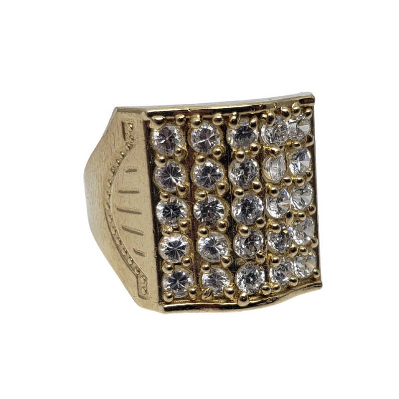 Pancrazio Gold Ring 10k for Men MR-126