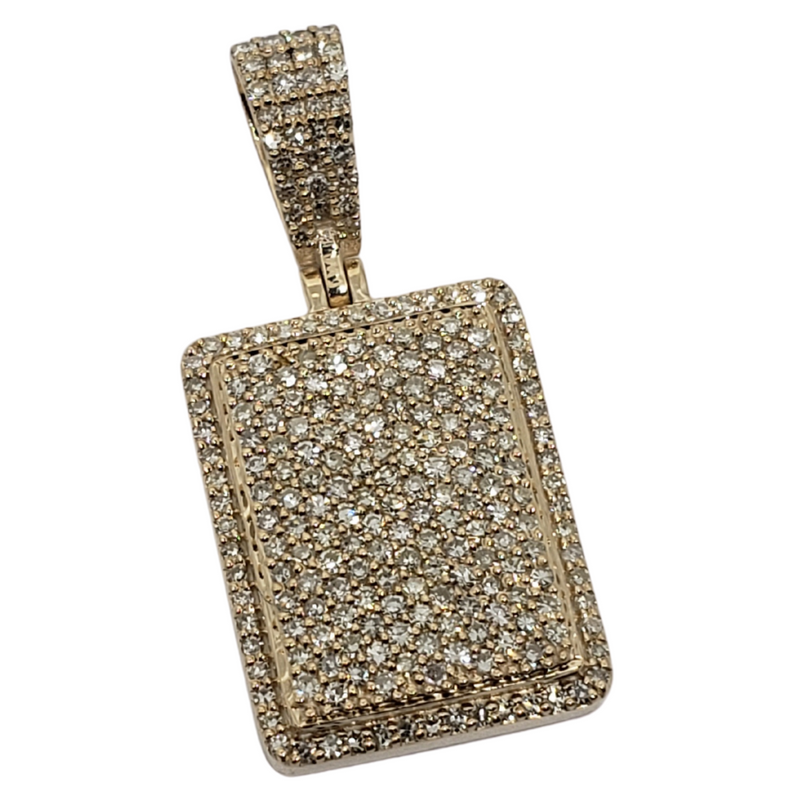 Square 1.08ct Gold Pendant in 10k Gold SP 9859 A