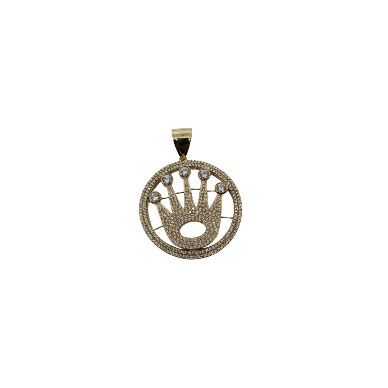 King Rolly Pendant in 10k Gold LA104
