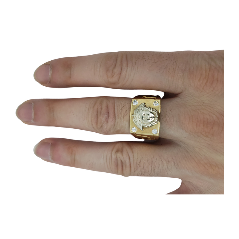 Saverio Gold Ring 10k for Men MR-154