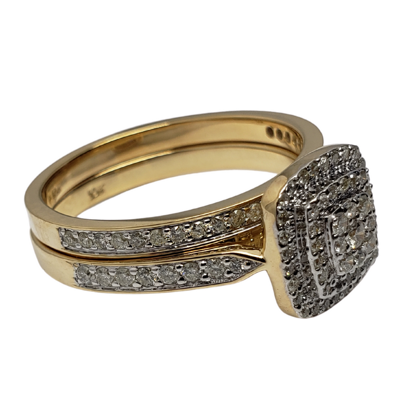 Diamond Ring 1.00ct in 14k Yellow Gold SMR-109