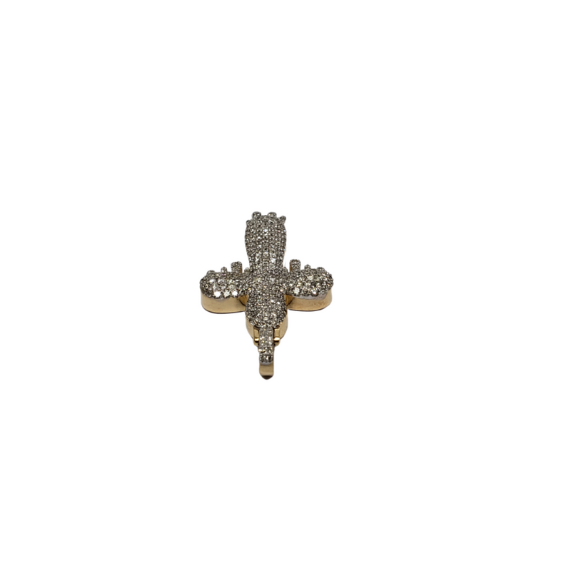 Cross Drip 1.10CT Diamond Pendant in 10k Gold DP-006
