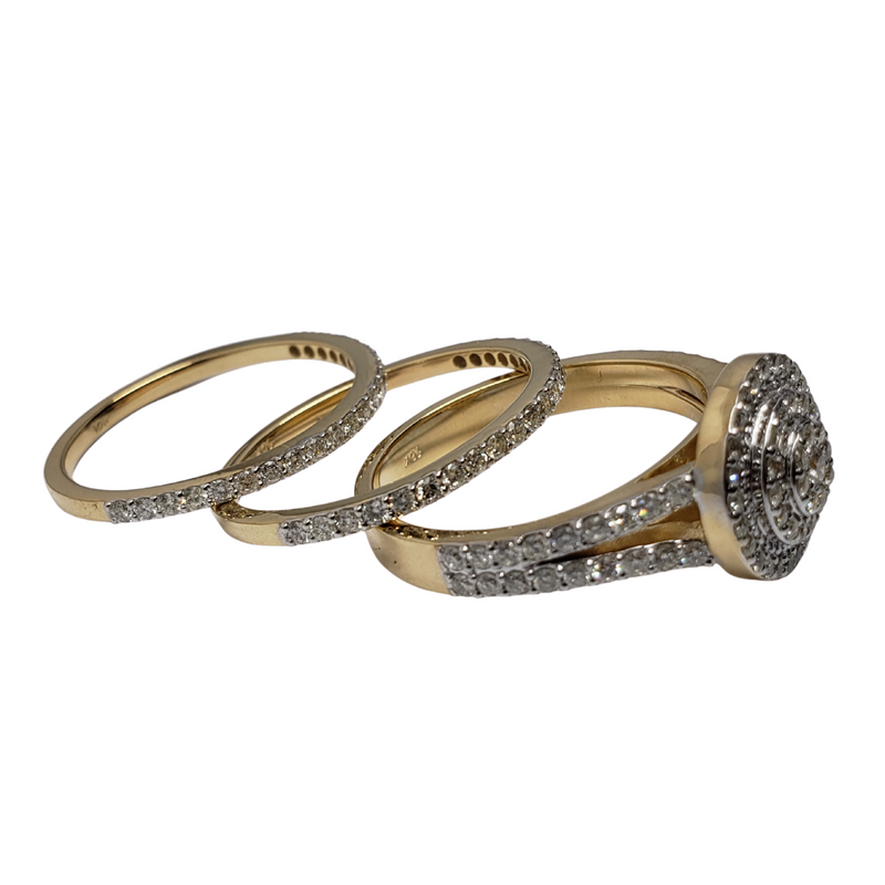 Diamond Ring 1.8ct in 14k Yellow Gold SMR-107