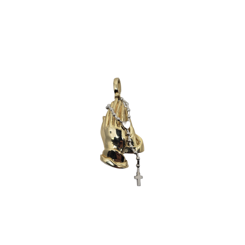 10K Yellow Gold Hand Prayers Pendants HP-004