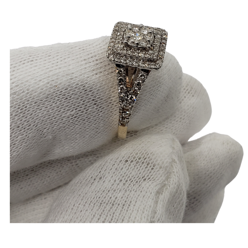 Diamond Ring 0.62ct in 10k Yellow Gold SR 10670