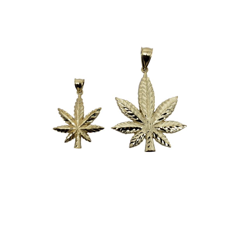 Simple Mary-Jay Leaf pendant in 10k Gold LA173
