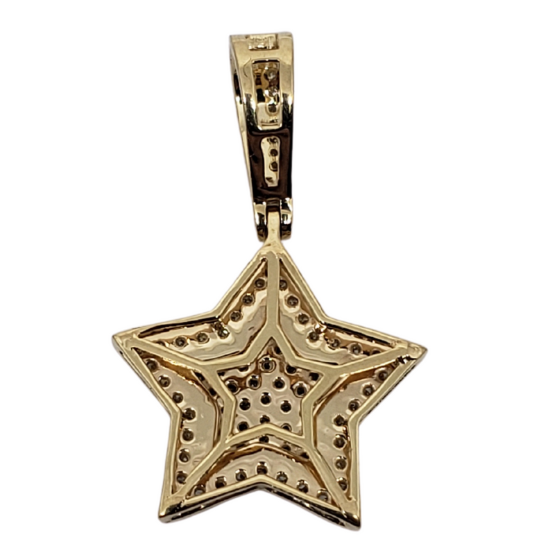 Star-small 0.44ct Gold Pendant in 10k Gold SP 10879