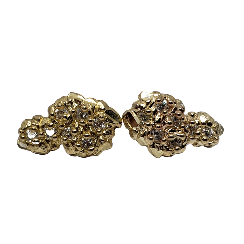 10K Yellow Gold Nugget Earring WE-007