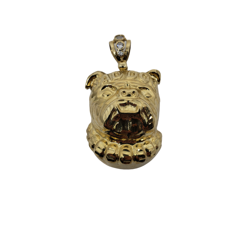 Bull Dog Pendant 10K Yellow Gold AN-012