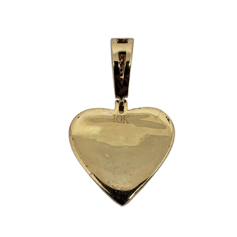 Heart 0.77ct Diamond Pendant in 10k  SP 12392