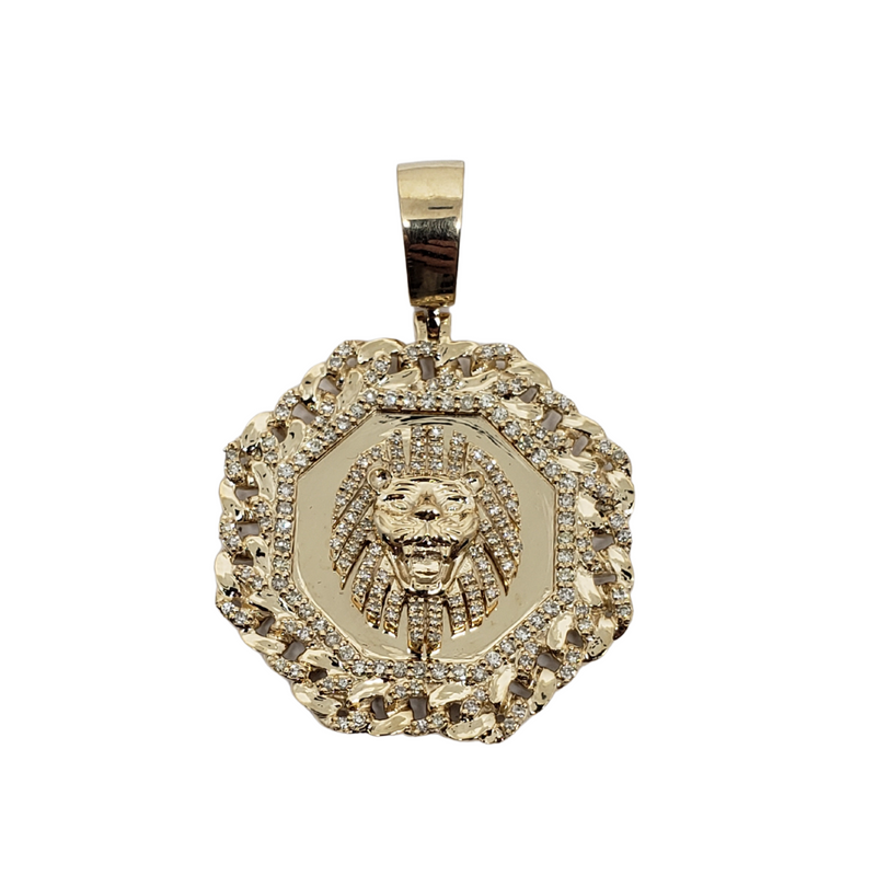 Pendentif  Lion  0.58ct en or  10K SP 11366