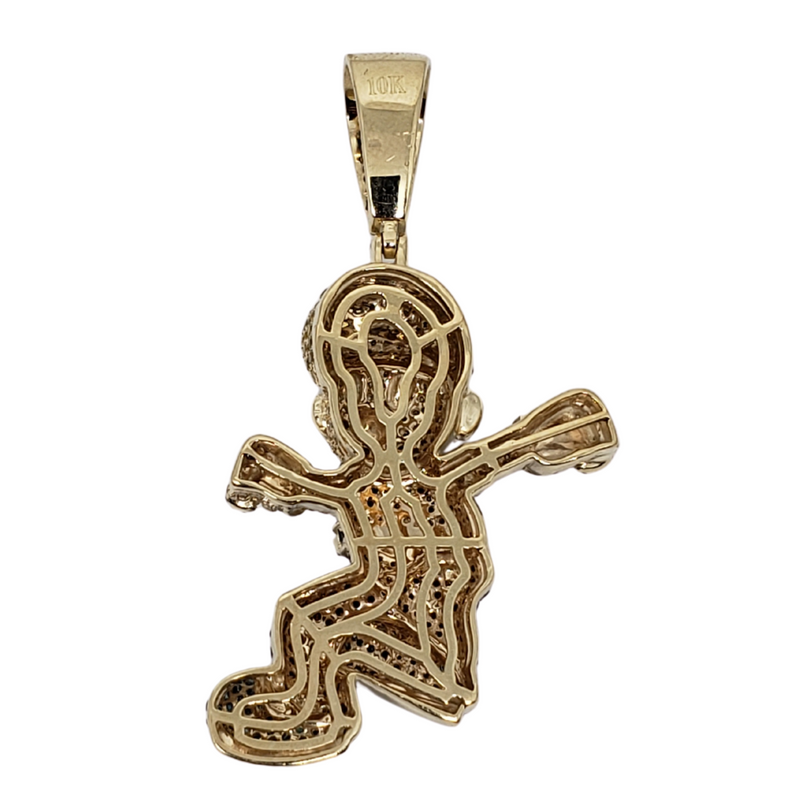 Mario 2.2ct Gold Pendant in 10k Gold SP 11386