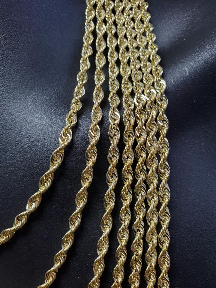 10K Gold Rope Chain 4mm edition 2020 Ultra Shinny | Ropechain 4mm Special Edition Ultra Shinny-Gold Custom