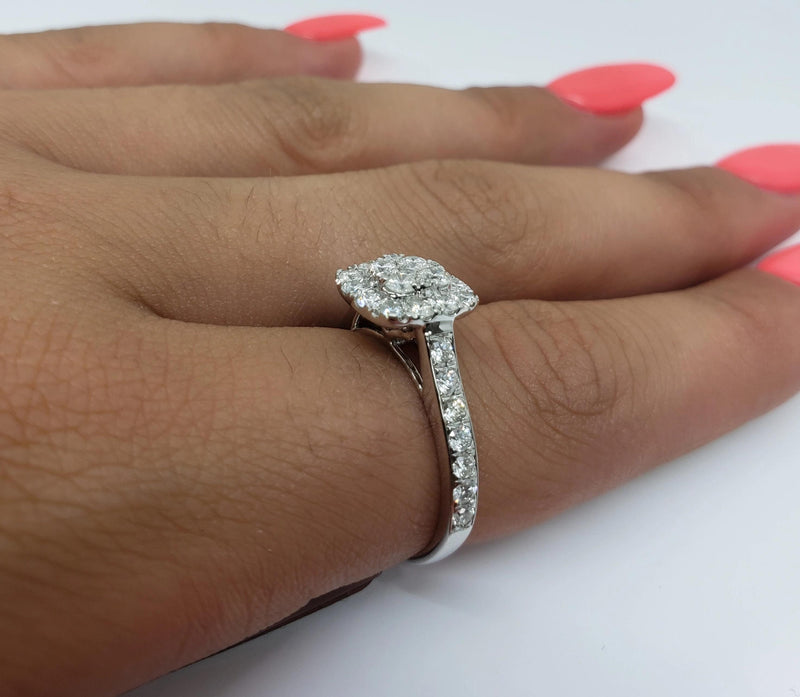 Bague Leanna 1.00ct de diamants en or blanc 14k - orquebec