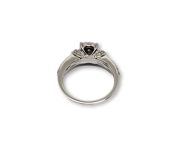 Bague Orchidea 0.78ct de diamants en or blanc 10k - orquebec
