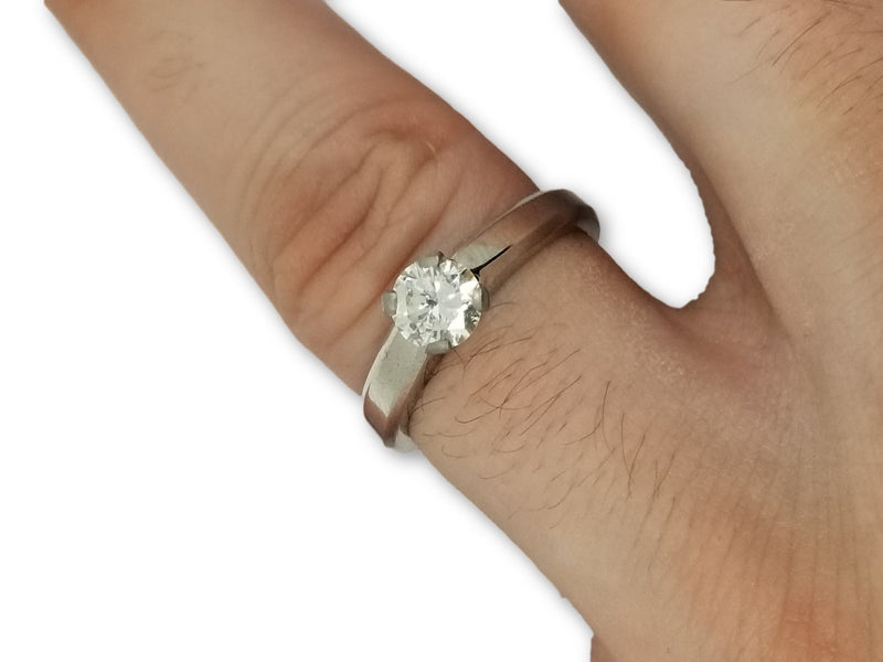 Bague solitaire 14K  0.80ct Diamants VS1 G color - orquebec