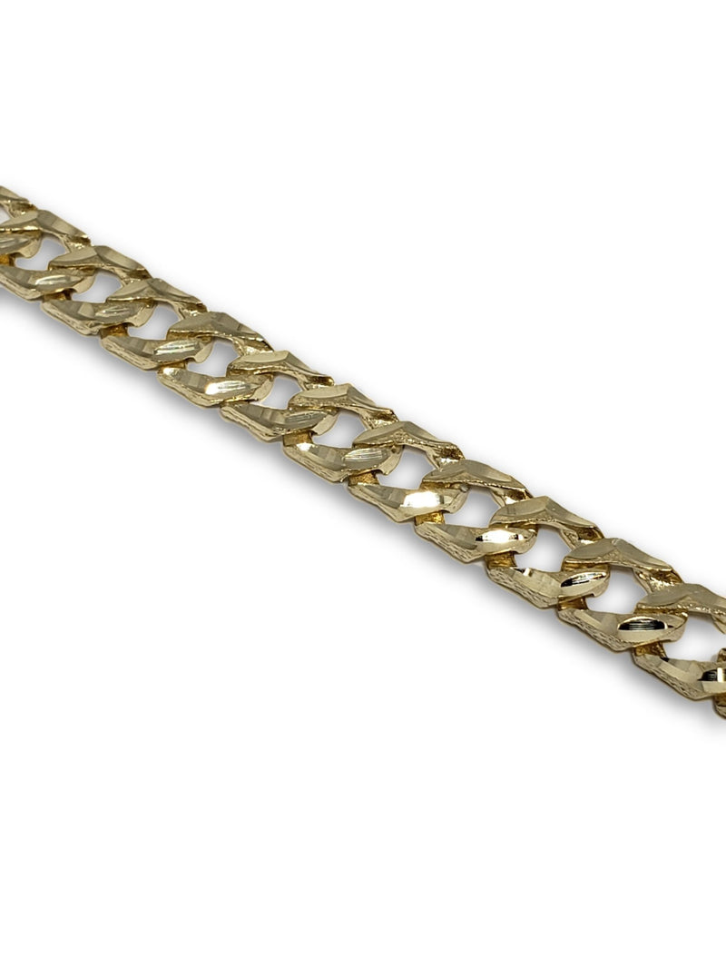 Bracelet 7mm en or jaune 10k Coupe diamond cut - orquebec