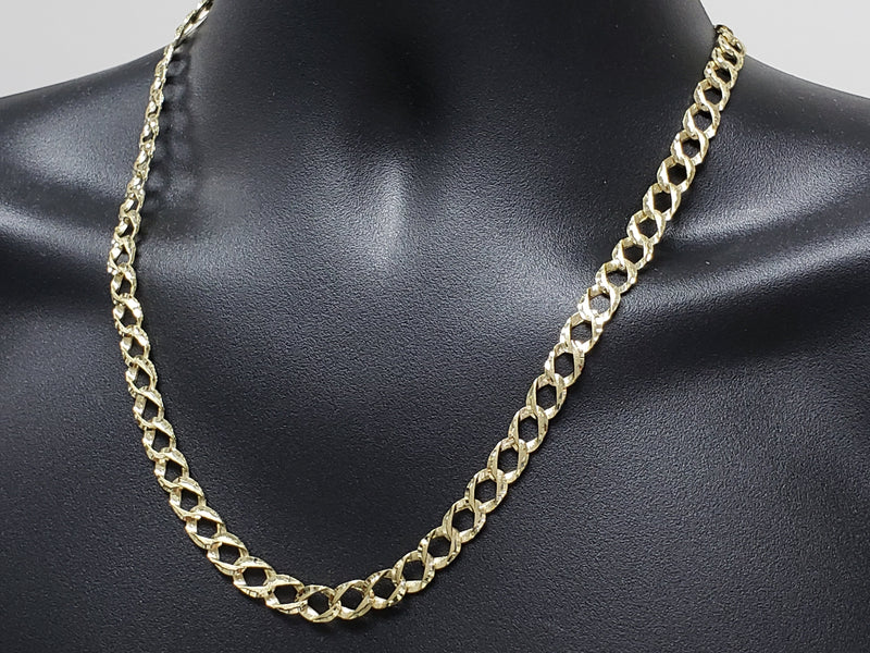 Chaine Casting Gourmette Curb Diamond Cut | New 10K Gold Chain For Him-Gold Custom