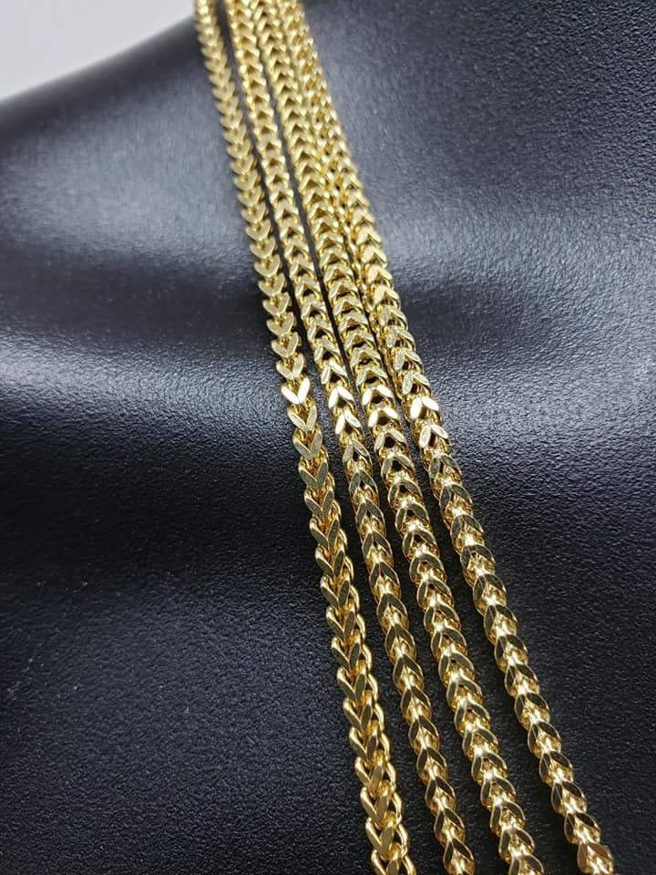 Chaine Franco en or jaune 10K 3MM Italien Semi Solid | Franco Chain 10kt Italian yellow gold necklace 3MM-Gold Custom