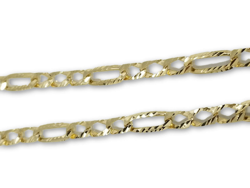 Chaine Gourmette Casting Coupe diamond cut 7MM en or 10K | Chain in gold 10K Diamond Cut 7MM-Gold Custom