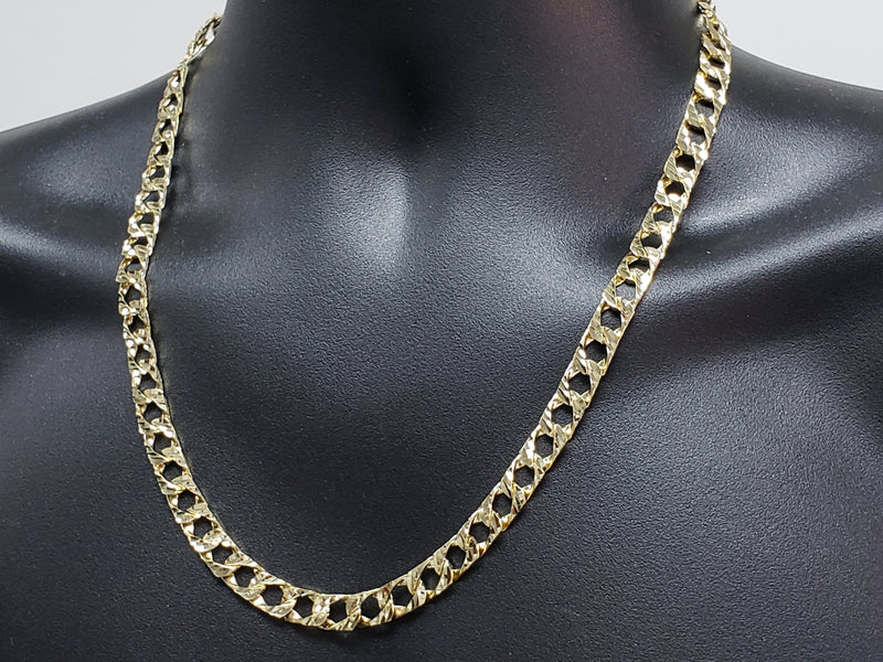 Chaine Gourmette Coupe Diamants 8MM | 10K Gold Chain Curb 8MM-Gold Custom