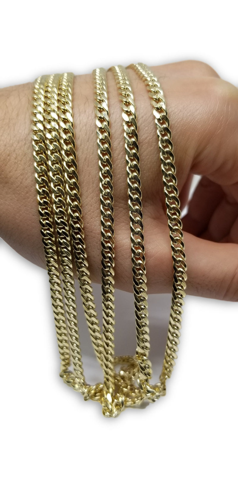 Chaine Miami Cuban Link 4.5mm en or 10k Italien | Miami Cuban Link Chain for Men 4.5mm Italian Yellow Gold 10k MC45-Gold Custom