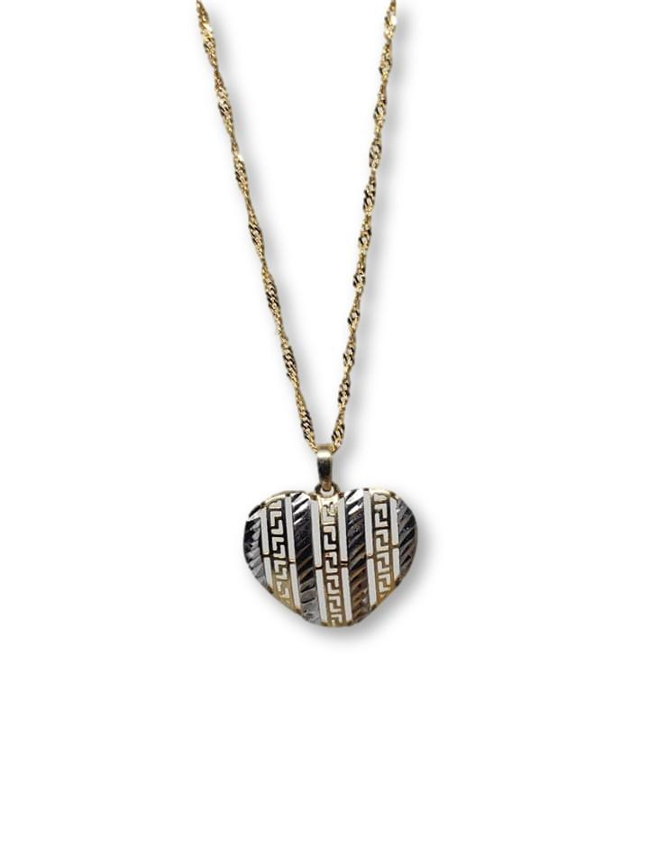 Versace Heart Necklace in 10k Gold HRT-00989