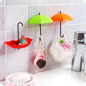Gujjufactory Umbrella Key Holder for Wall 3 pcs, Umberlla Key Stand, Umberlla Keychain Holder, Key Hat Wall Multipurpose Holder Hanger Hooks